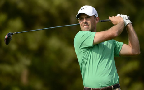 South African golf player, Charl Schwartzel during the third round of the Nanshan China Masters at the Montgomerie Course, Nanshan International Golf Club, in Shandong Province. Picture: AFP