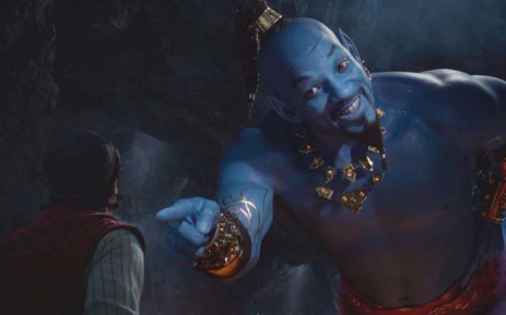 Mena Massoud plays the title character in the adaptation of 'Aladdin', while Will Smith features as the Genie. Picture: Disney