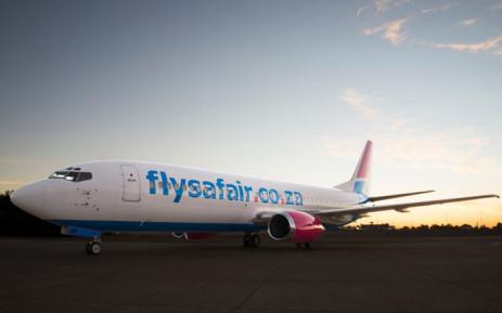A FlySafair plane. Picture: @FlySafair/Twitter.