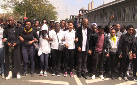 Fees must fall protests sees Wits university shut down after clashes with police. Picture: Kgothatso Mogale/EWN
