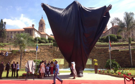 The nine-metre high statue of Nelson Mandela to be unveiled at the Union Buildings in Pretoria on 16 December 2013. Picture: Barry Bateman/EWN