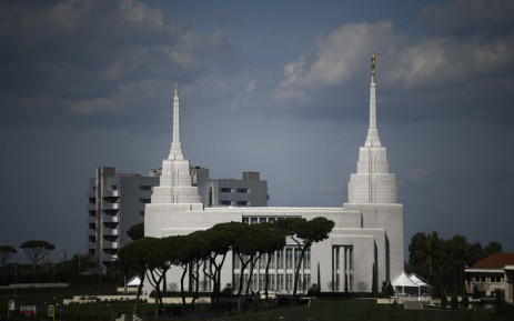 Italy's first ever and Europe's largest Mormon temple of the Church of Jesus Christ of Latter-day Saints, is pictured in Rome on 9 March 2019. Picture: AFP