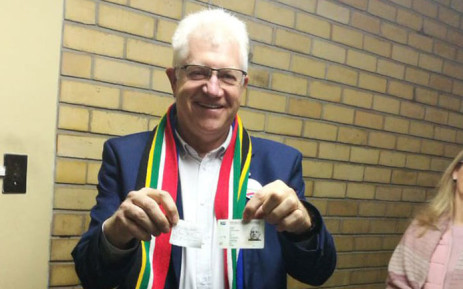 The DA's Alan Winde casts his vote at the Batavia School in Claremont on 8 May 2019. Picture: @Our_DA/Twitter