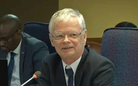 A screengrab of deputy prosecutions boss Willie Hofmeyr testifying at the Mokgoro Inquiry.