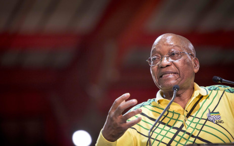 President Jacob Zuma addresses delegates at the ANC's 54th national conference on 16 December 2017. Picture: Thomas Holder/EWN
