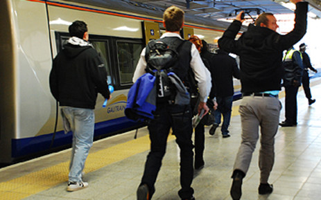Passengers at the Gautrain OR Tambo station. Picture: EWN