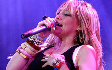 US singer Hilary Duff. Picture: AFP
