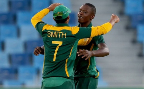 Junior Proteas bowler Kagiso Rabada celebrates claiming another wicket. Picture: Facebook.com