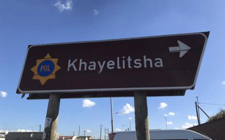 Khayelitsha police station sign Picture: Lizell Persens/Eyewitness News