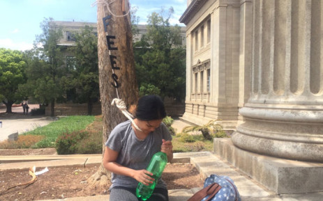 A Wits University student says the burden of fees feels like a noose around her neck. Picture: Dineo Bendile/EWN.