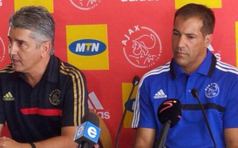 Ajax Cape Town coach Roger De Sa (right). Picture: Alicia Pillay/EWN