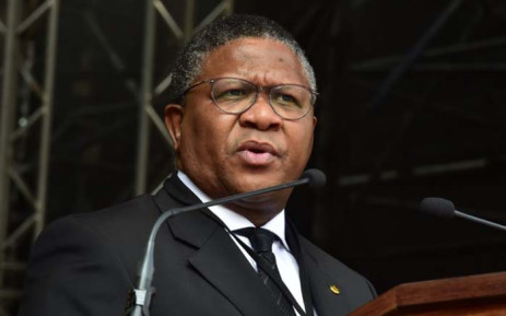 ANC's Head of Elections Fikile Mbalula speaking at the funeral service of late Winnie Madikizela-Mandela at Orlando Stadium in Johannesburg. Picture: GCIS