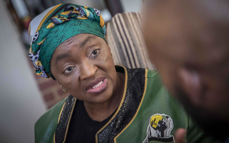 Former cabinet minister Bathabile Dlamini chats to EWN a day after she resigned as a member of Parliament. Picture: Abigail Javier/EWN