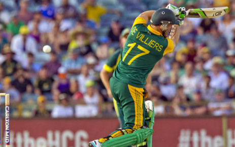 FILE: South Africa's AB de Villiers bats during the second one-day international (ODI) cricket match of the series between Australia and South Africa in Perth. Picture: AFP.