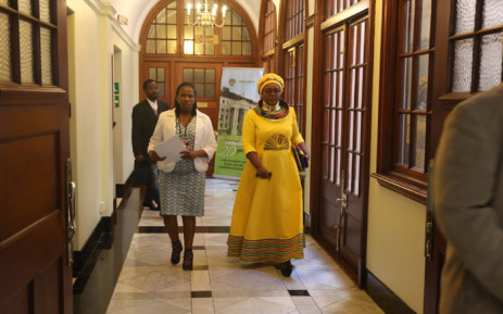 Energy Minister Mmamoloko Kubayi arriving in Parliament to deliver her speech at the department's budget vote. Picture: Twitter/@Energy_ZA.