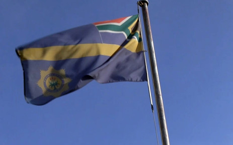 The police flag outside the Welkom police station. Picture: Reinart Toerien/EWN