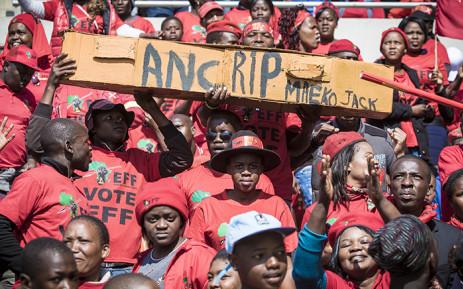 EFF supporters have gathered in their thousands at the Peter Mokaba Stadium in Polokwane to attend the Tshela Thupa EFF Rally. Picture: Thomas Holder/EWN