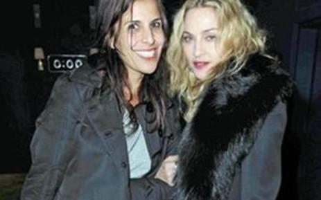 Madonna (R). Picture: AFP