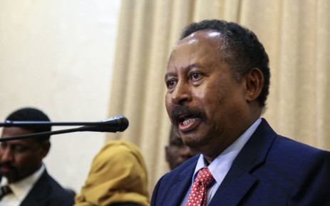 Abdalla Hamdok speaks after being sworn in as Sudan's interim prime minister in the capital Khartoum on 21 August 2019.  Picture: AFP