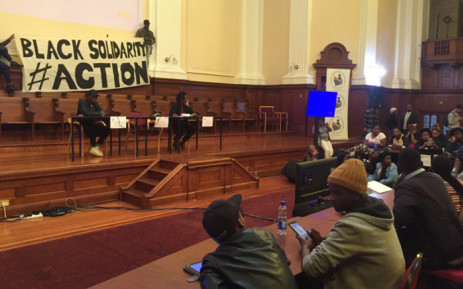 One student says issue of fees can't be discussed in isolation without reflecting on other issues. Picture: Xolani Koyana/EWN.