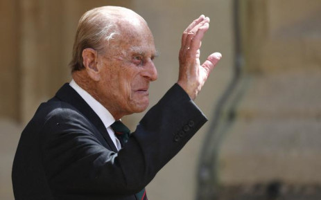 Britain's Prince Philip, Duke of Edinburgh waves as he takes part in the transfer of the Colonel-in-Chief of The Rifles at Windsor castle in Windsor on 22 July 2020. Picture: Adrian DENNIS/POOL/AFP