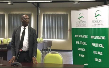 Fanyana Jele testifies at the Moerane Commission. Picture: Ziyanda Ngcobo/EWN
