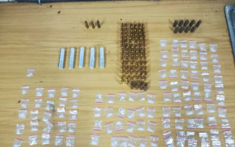 The South African Police Service says the man, aged 20, was arrested after being found in possession of drugs and ammunition. Picture: @SAPoliceService/Twitter