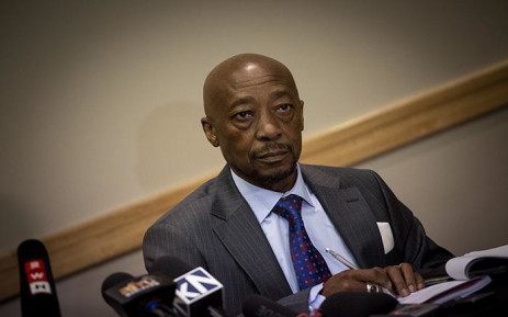 FILE: Tom Moyane at a press briefing in Johannesburg. Picture: Kayleen Morgan/EWN