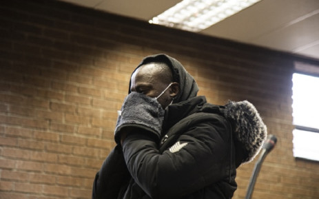Muzikayise Malephane (31) appears in the Roodepoort Magistrates Court on 17 June 2020 for the murder of Tshegofatso Pule. Picture: Kayleen Morgan/EWN
