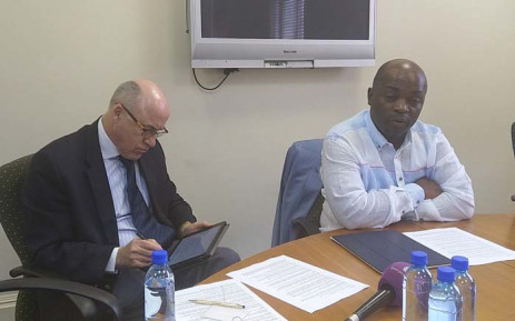 DA Gauteng premier candidate Solly Msimanga (right) at the party's release of its latest report card for the Gauteng government on 3 December 2018. Picture: @DA_GPL/Twitter