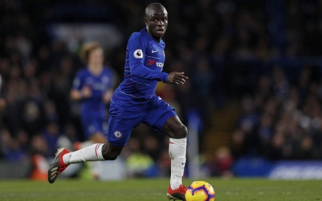 Chelsea midfielder N'Golo Kante runs with the ball during the English Premier League football match between Chelsea and Newcastle United at Stamford Bridge in London on 12 January 2019. Picture: AFP