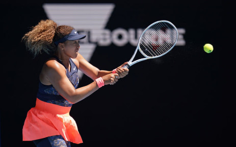 Japan's Naomi Osaka hits a return during a match at the Australian Open. Picture: @AustralianOpen/Twitter