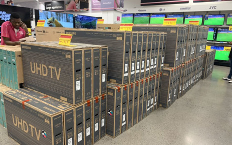 TVs sold out quickly at Game on Black Friday, on 29 November 2019. Picture: Christa Eybers/EWN.