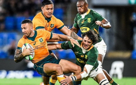 The Wallabies claimed a 28-26 win over the world champions, the Springboks, on the Gold Coast on 12 September 2021. Picture: @Springboks/Twitter.