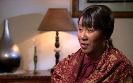 A screengrab of Former President Nelson Mandela's daughter Maki, speaking to CNN about her father's condition.