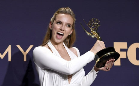 Jodie Comer, winner of the Outstanding Lead Actress in a Drama Series award for 'Killing Eve,' poses in the press room during the 71st Emmy Awards at Microsoft Theater on 22 September 2019 in Los Angeles, California. Picture: AFP