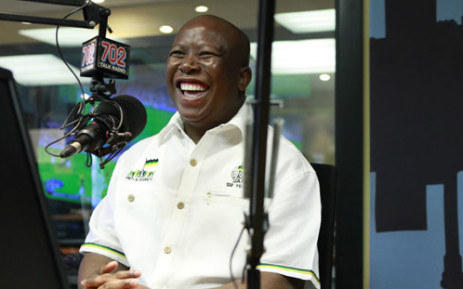 Julius Malema at the 702 studios on 19 September 2012. Picture: Neo Ntsoma