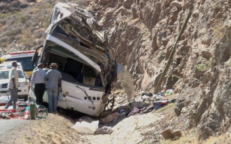 An Atlantic Inner City double-decker chatter bus overturned at the Hex River Valley killing 24 people on 15 March 2013. Picture: Renee de Villiers/EWN
