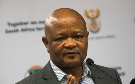 Public Service and Administration Minister Senzo Mchunu at a media briefing on the coronavirus on 25 March 2020 in Pretoria. Picture: Kayleen Morgan/EWN