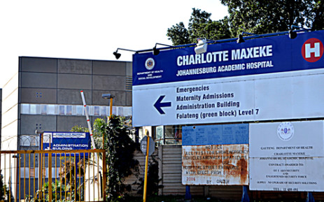Charlotte Maxeke Johannesburg Academic Hospital sign. Picture: Michelle Lubbe/EWN