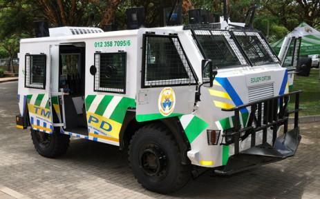 A general view of a Tshwane Metro Police vehicle. Picture: Facebook.com/TshwaneMetroPoliceDepartment