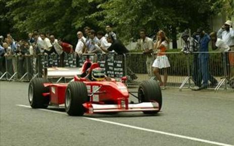 A Grand Prix race car. Picture: Werner Beukes/SAPA