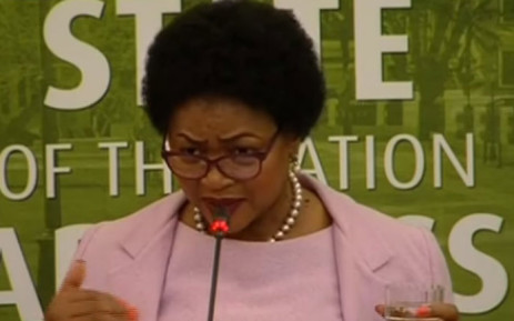 A screengrab of National Assembly Speaker Baleka Mbete briefs the media on Parliament's readiness to hold the 2018 State of the Nation Address.