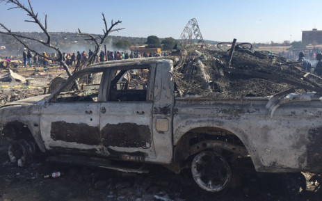 FILE: Five people died after their shacks were burned down in Plastic View informal settlement, east of Pretoria on 3 July 2016. Picture: Dineo Bendile/EWN.