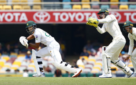 Action from day one of the first Test between Australia and Pakistan at the Gabba in Brisbane. Picture: @cricketcomau/Twitter