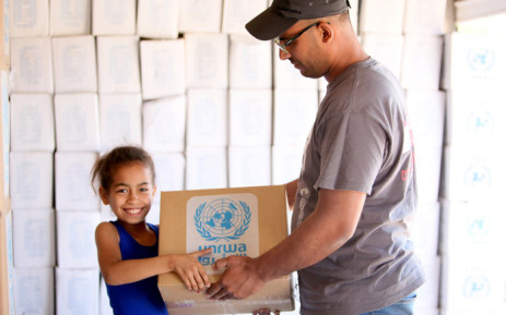 The Trump administration is considering cutting funds to the United Nations Relief and Works Agency for Palestinian refugees. Picture: @unrwausa/Twitter.