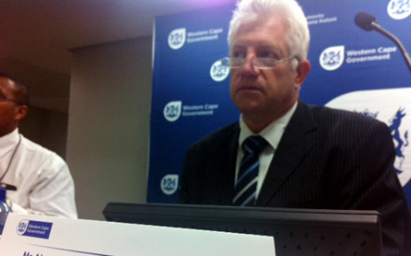 FILE: Alan Winde Picture: EWN