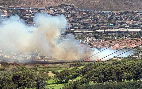 A fire seen in the Clovelly Wetlands area. Picture: Supplied.