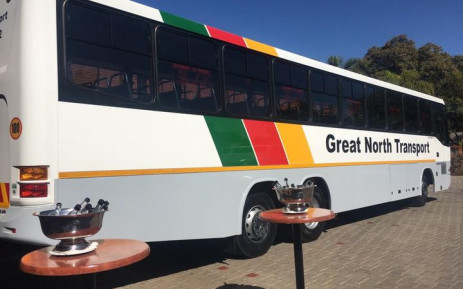 A GNT Cross- Border M.A.N bus on the loading bay in Burgersfort before its departure to Harare, Zimbabwe. Picture: Facebook/Great North Transport -SOC