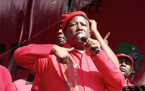 Economic Freedom Fighter's leader Julius Malema launched the party's manifesto on Saturday in Tembisa. Picture: EWN
